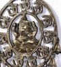 Brown Brass Om & Ganesha Wall Hanging by Handecor