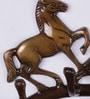 Handecor Multicolour Brass Victorious Horses Key Holder