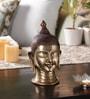 Yellow Brass Divine Buddha Head Showpiece by Handecor