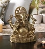 Yellow Brass Handcarved Lord Ganesha Statue by Handecor