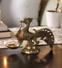 Handecor Yellow Brass Peacock Statue Oil Lamp
