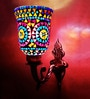 Handicraft Kottage Antiqua Brasso Multicolour Shining Wall Lamp