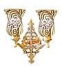 Handicraft Kottage Gold Glass Upward Wall Mounted Light
