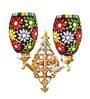 Handicraft Kottage Multicolour Glass Upward Wall Mounted Light