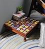 Multicolour Solid Wood & Tile Bajot by Hanumant