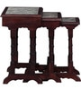 Smythe Set of Tables with Bidasar Marble Top in Rose Wood Finish by Amberville