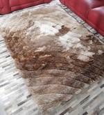 Beige Polyester 69 x 49 Inch Carpet