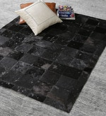 Cola Black Leather 72 x 48 Inch Hand Made Carpet