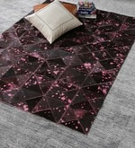 Cola Pink Leather 72 x 48 Inch Hand Made Carpet