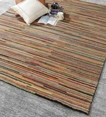 Multicolour Wool 92 x 64 Inch Indian Hand Knotted Carpet