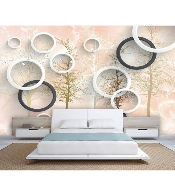 Buy Hd Brown And White Tree Non Woven Paper 13x10 Feet Wallpaper By 999store Online Natural Floral Wallpapers Furnishings Home Decor Pepperfry Product