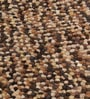 Beige & Brown Wool 36 Inch Hand Woven Pebble Round Carpet by HDP
