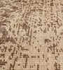 Beige & Brown Wool 80 x 56 Inch Indian Hand Made Knotted Carpet by HDP
