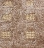 Beige Polyester & Wool 54 x 28 Inch Hand Made Tufted Shaggy Carpet by HDP