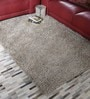 HDP Beige Polyester 47 x 67 Inch Hand Made Carpet