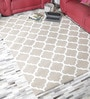 Beige Wool 55 x 79 Inch Tufted Carpet by HDP