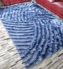 HDP Blue Polyester 92 x 65 Inch Carpet