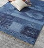 HDP Blue Wool 80 x 56 Inch Indian Hand Made Knotted Carpet