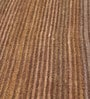 Brown Wool 80 x 56 Inch Hand Woven Flat Weave Loom Knotted Carpet by HDP