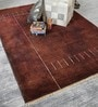 Brown Wool 80 x 56 Inch Indian Hand Knotted Over Dye Carpet by HDP