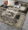 Brown Wool 80 x 56 Inch Indian Hand Made Knotted Carpet by HDP