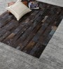 Cola Blue Leather 73 x 51 Inch Hand Made Carpet by HDP