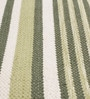 Green & White Cotton 92 x 64 Inch Hand Woven Flat Weave Area Rug by HDP