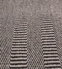 Grey & Black Cotton 92 x 64 Inch Hand Woven Flat Weave Area Rug by HDP