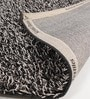 Grey & Black Polyester 47 x 67 Inch Carpet by HDP