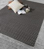 HDP Grey & Black Wool 80 x 56 Inch Hand Woven Flat Weave Area Rug