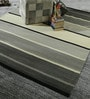 HDP Grey & Ivory Wool 80 x 56 Inch Hand Made Flat Weave Kilim Carpet