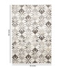 Grey and Ivory Leather 80 x 56 Inch Hand Made Carpet by HDP