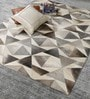 Grey Leather 80 x 56 Inch Hand Made Carpet by HDP