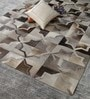 Grey Leather 92 x 64 Inch Hand Made Carpet by HDP