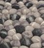 HDP Grey Wool 32 x 20 Inch Reversible Felt Ball Bed Side Carpet