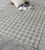 HDP Grey Wool 80 x 56 Inch Hand Woven Flat Weave Area Rug