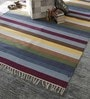 Multicolour Cotton 92 x 64 Inch Hand Woven Flat Weave Area Rug by HDP