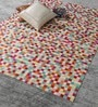 Multicolour Leather 80 x 56 Inch Hand Made Carpet by HDP