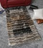 Multicolour Polyester 58 x 35 Inch Hand Made Tufted Shaggy Carpet by HDP
