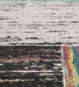 Multicolour Recycled Silk 80 x 56 Inch Hand Woven Flat Weave Area Rug by HDP