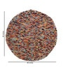 HDP Multicolour Wool 48 Inch Hand Woven Pebble Round Carpet