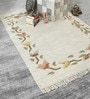 Multicolour Wool 68 x 48 Inch Hand Made Flat Weave Carpet by HDP