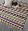 Multicolour Wool 72 x 56 Inch Hand Woven Flat Weave Area Rug by HDP