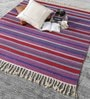 Multicolour Wool 80 x 56 Inch Hand Made Flat Weave Kilim Carpet by HDP