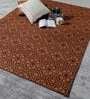 Orange Wool 80 x 56 Inch Hand Woven Flat Weave Area Rug by HDP