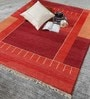 Orange Wool 80 x 56 Inch Indian Hand Knotted Carpet by HDP