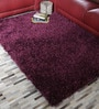Purple Polyester 47 x 67 Inch Hand Made Carpet by HDP