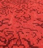 Red & Black Wool 96 x 60 Inch Indian Hand Made Knotted Carpet by HDP