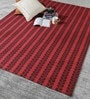 Red & Brown Wool 80 x 56 Inch Hand Woven Flat Weave Area Rug by HDP