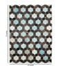 Sky Blue Leather 72 x 52 Inch Hand Made Carpet by HDP
